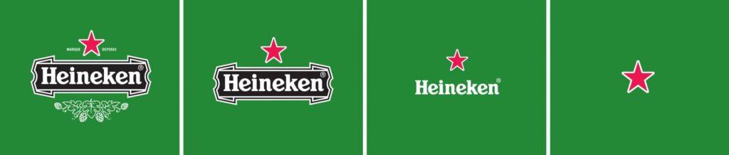 Logo-Variationen Heineken