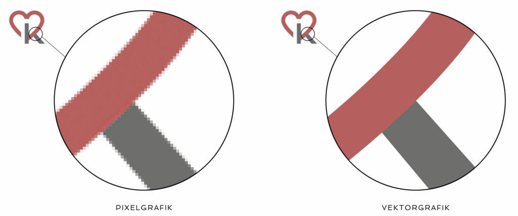 Logo Unterschied Pixel – Vektor